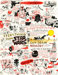 'Everything From Star Wars I Can Draw From Memory' (Credit: John Hendrix)