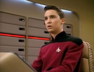 Wil Wheaton as Wesley Crusher. (Credit: Paramount Television)