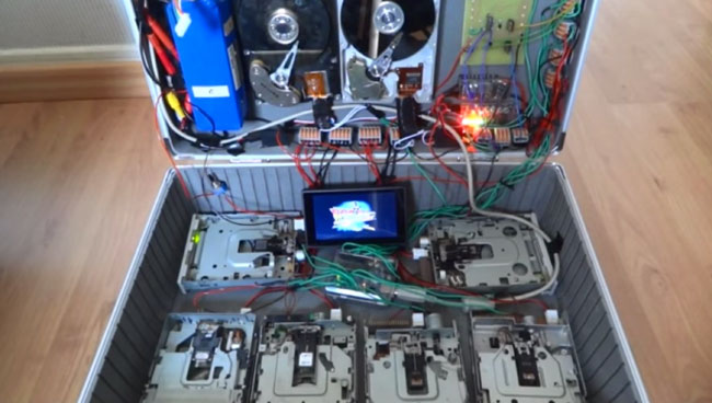 Back to the Future disk drives