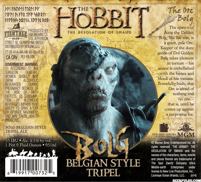 The Hobbit Bolg Belgian Style Trifel (credit: Warner Brothers)
