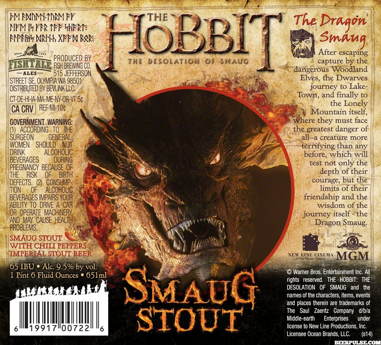 Smaug Stout (credit Warner Brothers / Beer Pulse)