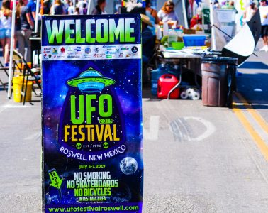 Roswell UFO Festival sign